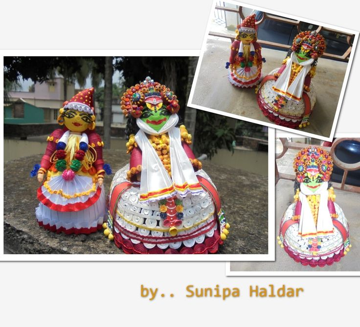 kathakali dancers .... paper quilled