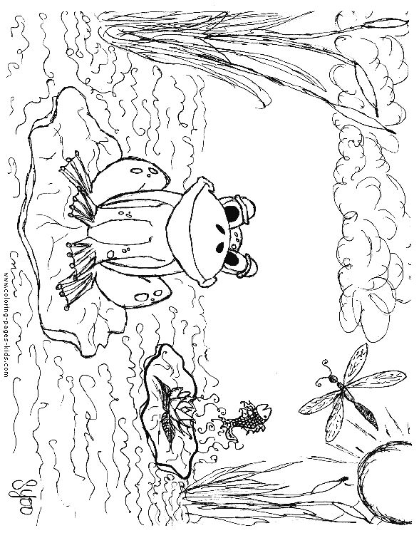 frog coloring pages free - photo#45
