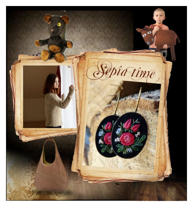 """""""Sepia Time"""" by landoflaces on Polyvore featuring moda"""
