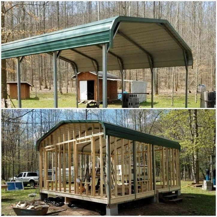 Garage Workshop Check Out This Amazing Pin Idea Reference 5106835935 Today Dreamgarageworkshop Dre Shed To Tiny House Metal Building Homes Carport Makeover