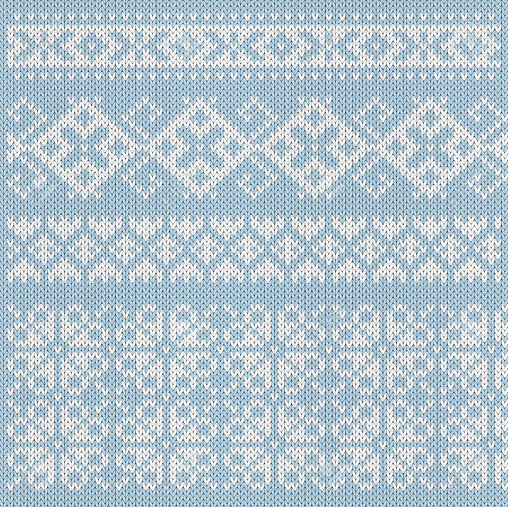 Knitted Pattern White On Blue Royalty Free Cliparts, Vectors, And Stock…