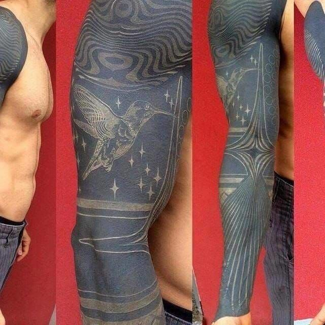 Interesting healed shot of this tattoo by Marco Ogg.