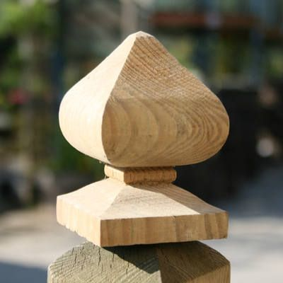 Bishop Finial (post cap) A wooden finial or timber post cap can be used to add…