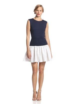 64% OFF Erin Fetherston Women's Hepburn Sunflower Jacquard Dress (Eclipse/White)