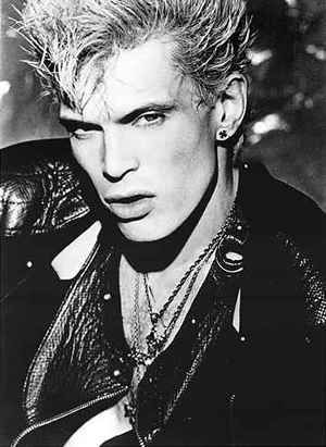 Billy Idol oh my how I was sooo in love with him in the 80's, I think it was those sweet sweet lips!!!