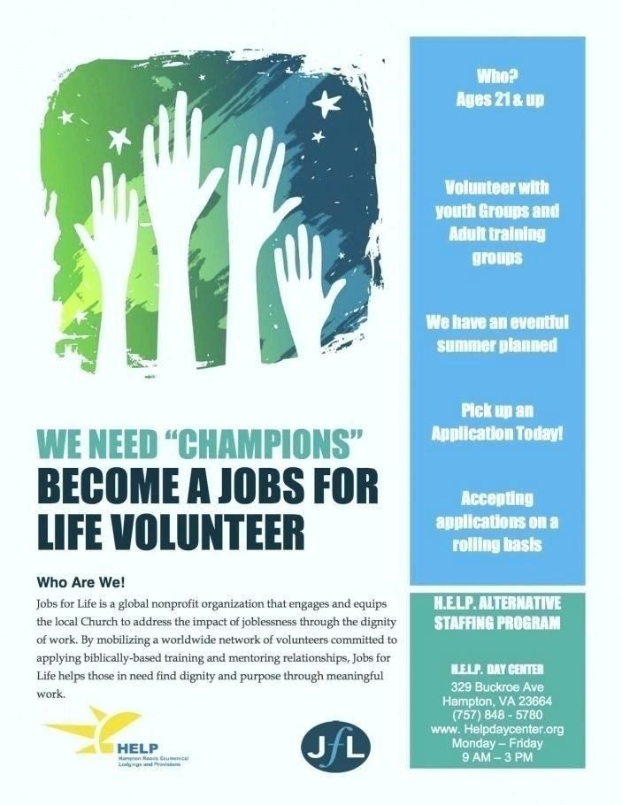 Free Volunteer Flyer Templates Volunteer Recruitment Flyer Template Flyer