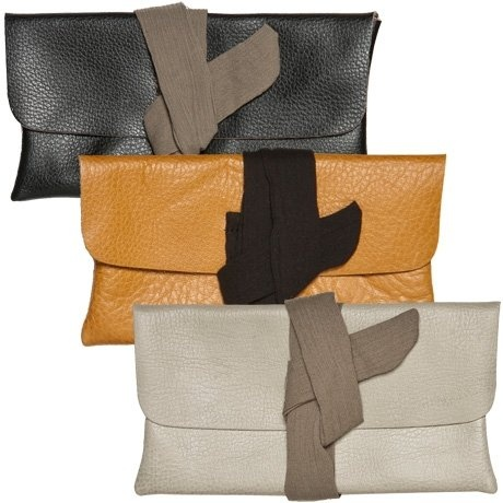Recycled leather clutch. Yes please.