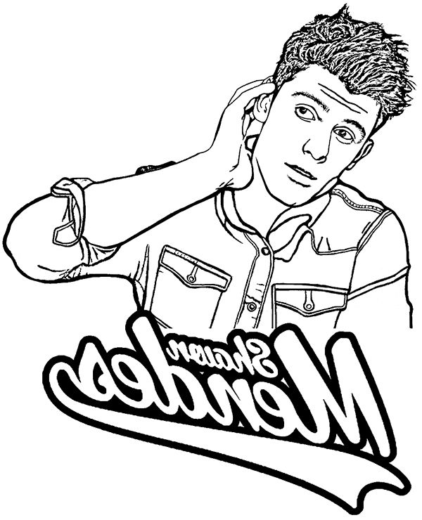 Shawn Mendes Coloring Pages Aq1h Shawn Mendes Printable Coloring