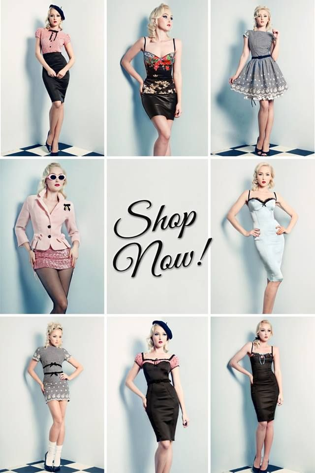 Wheels & Dollbaby - Pin-up clothing - I'm strongly considering a second job just to justify my need for a new wardrobe. Small yet refined.