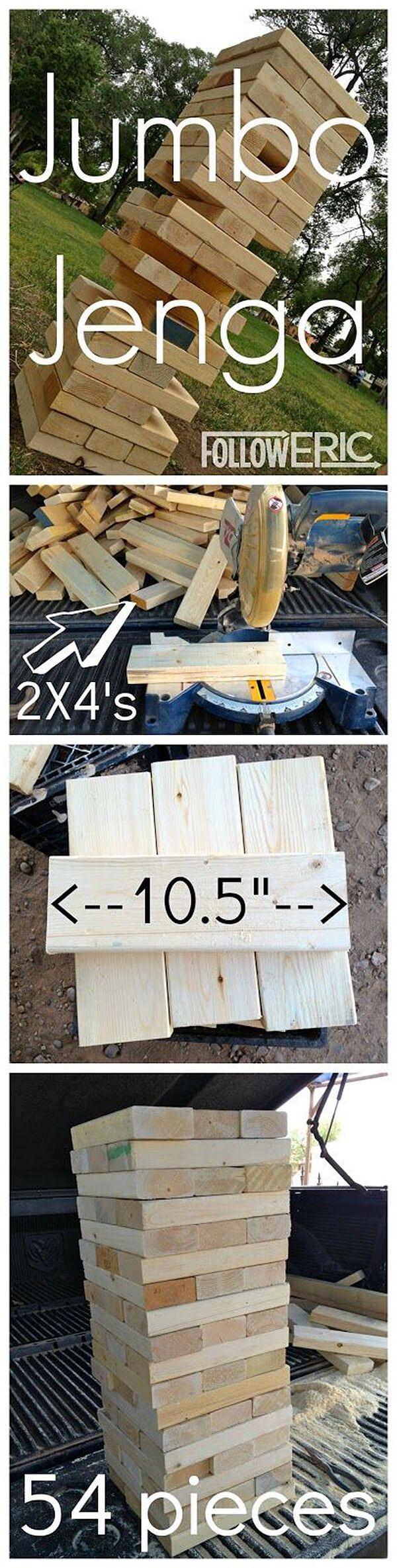 Jumbo DIY 2x4 Jenga Pieces