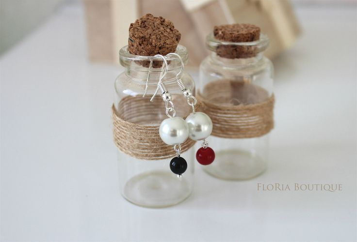 Trendy drop earrings by FloriaBoutique on Etsy