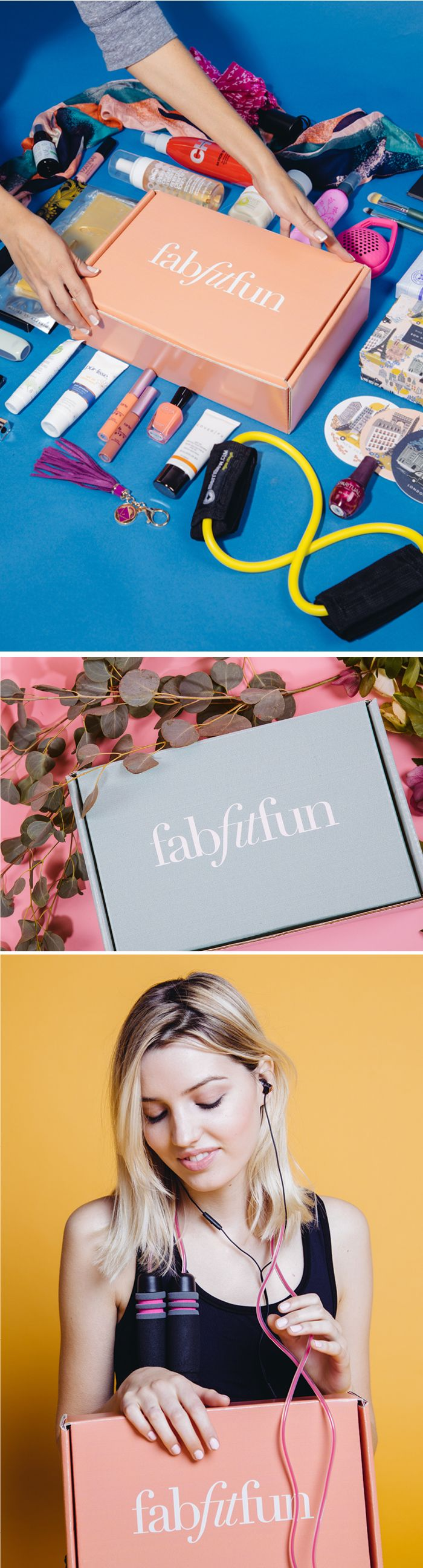 Subscribe to healthy & happy change in 2016 with FabFitFun. Each season we send out a box stuffed with premium, full-size beauty, fashion, and fitness products. It's like a big gift box delivered to your door. Try it out and get your first box for just $39.99 with code PINTEREST10
