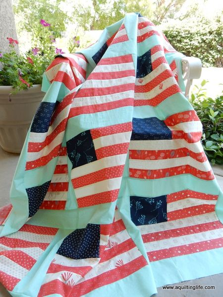 A Quilting Life - a quilt blog: Desert Bloom 4th of July Quilt