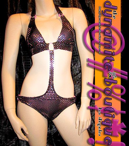 Hipster Monokini S blk purple ORing detail by DynamiteJetBoutique, $56.00