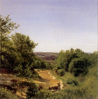P.C. Skovgaard (1817-1875): Parti ned over Vejle,1852