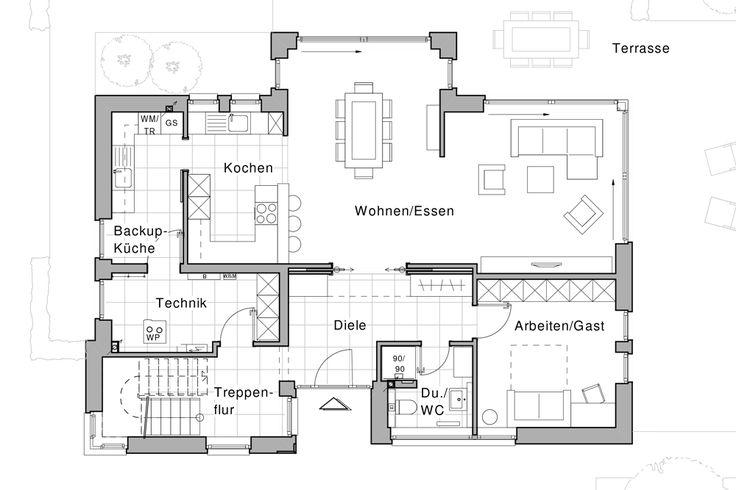 As 701 melhores imagens em plantas 2 pisos no pinterest for Casa moderna zwolle