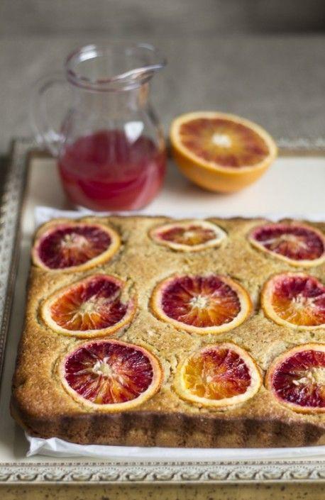 Torta di mais alle arance rosse e peperoncino - Corn cake with blood orange and chilli pepper