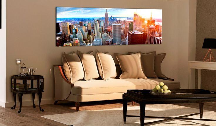Tableau montrant un Manhattan pittoresque sans doute se présentera parfaitement dans votre salon... mais aussi dans votre bureau :) #tableau #tableaux #décorationmurale #NewYork #coloré #bimago