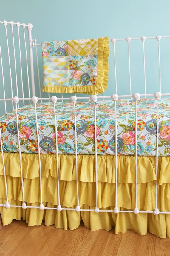 Custom Baby Girl Crib Bedding  Lily Belle Design by LottieDaBaby, $425.00