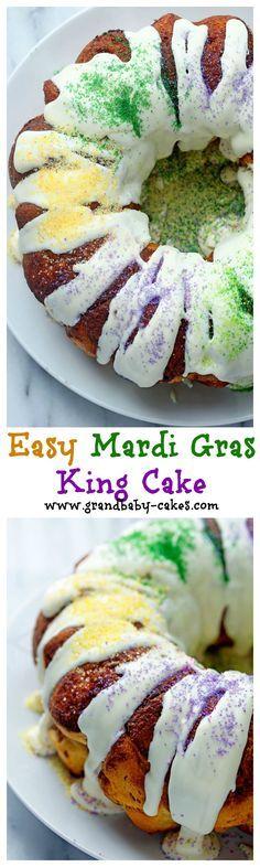 Easy Mardi Gras King Cake   Grandbaby Cakes