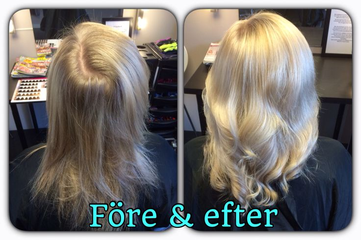 Before and after  Blond hair