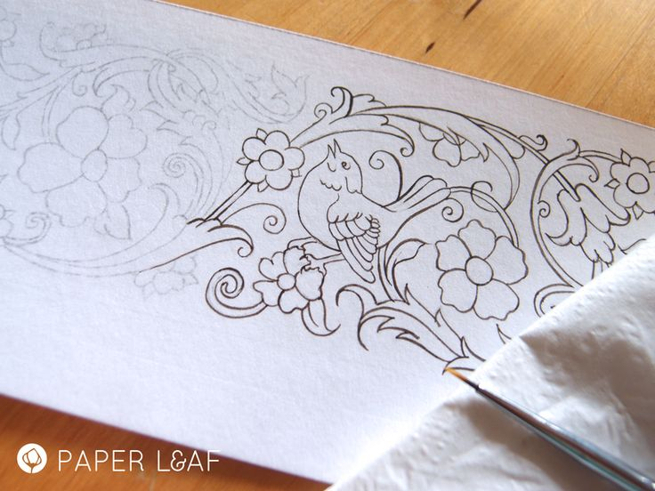 WIP Tazhib | Imitation of Tazhib | Acrilyc paint on Canson cardstock