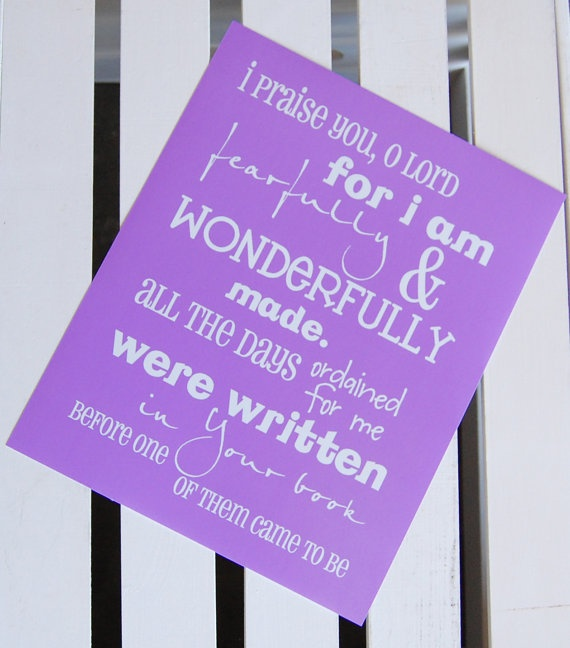 Fearfully and wonderfully made picture in purple: Scrapbook Ideas, Kids Stuff, Chalk Boards, Paper Projects, It S True