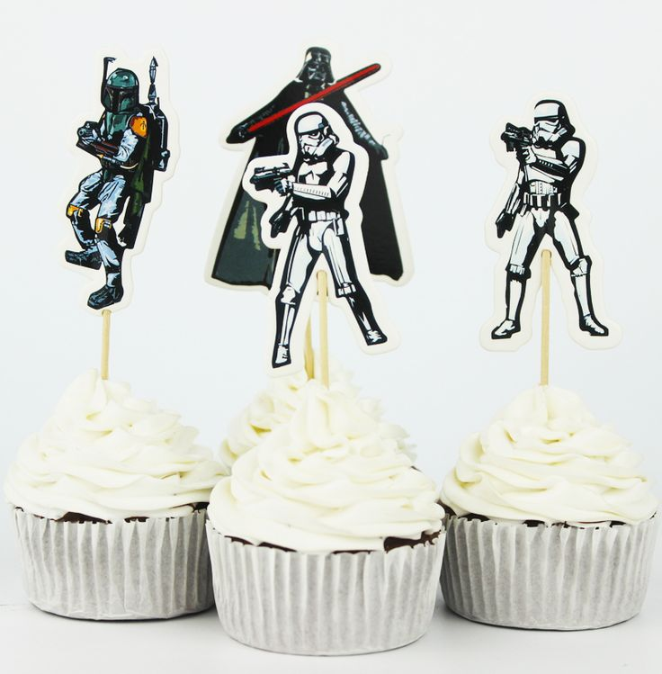 Star Wars Cupcake Toppers //Price: $10.95 & FREE Shipping //     #cakedecorating
