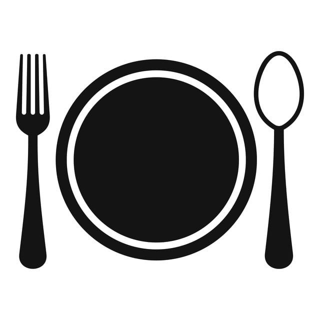 Place Setting With Plate Spoon And Fork Icon Place Icons Fork Icons Plate Icons Png And Vector With Transparent Background For Free Download Desain Vektor Alat Makan Garpu