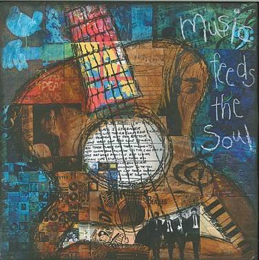 "'Music feeds the soul""- Jennifer McCully: Artworks Ideas, Art Mixed, Journals Mixed Media, Art Prints, Art Ideas, Collage Prints Paintings, Music Feeding, Mixed Media Art, Art Music"