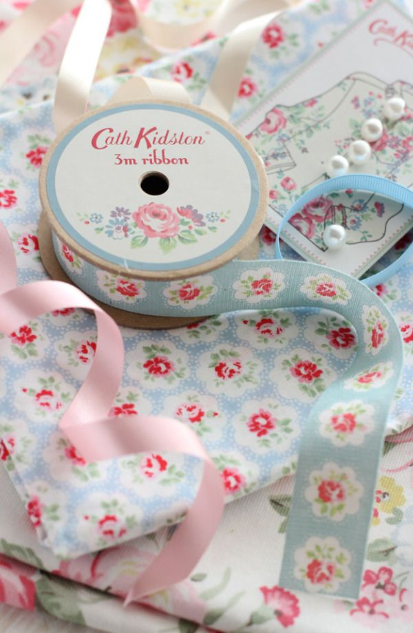 Cath kidston ribbons buttons and fabric Cath Kidston DIY Hanger Craft