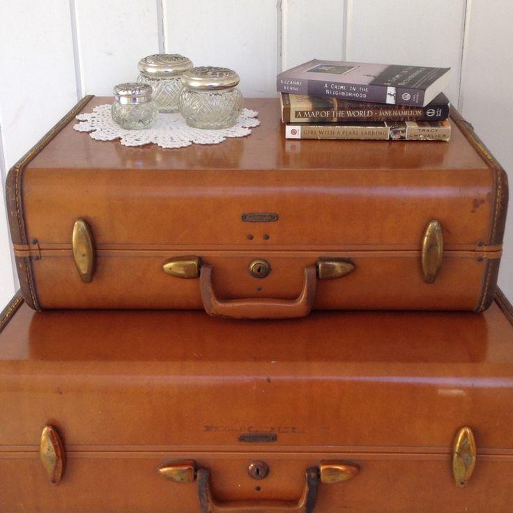 Vintage Samsonite Hard Case Suitcase / Luggage Shwayder Bros Style No 4632 ~ Brown by NanAndPopsAttic on Etsy https://www.etsy.com/listing/477851990/vintage-samsonite-hard-case-suitcase