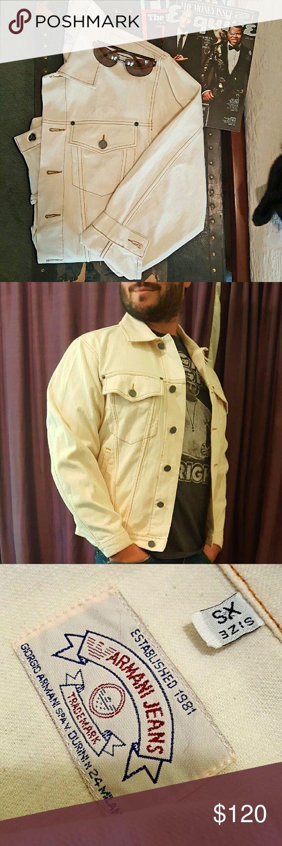 Armani Jeans - Jean Jacket Almost Vintage Men's Armani Jean Jacket. Incredibly well taken care of. Killer fall attire. Armani Jeans Jackets & Coats Lightweight & Shirt Jackets