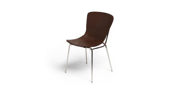 Hammock stol tillverkad i läder med kromat stativ. Hammock stol är en traditionellt formgiven stol av Axel Bjurström med komfort i fokus. Sits och rygg består av tjockt vegetabiliskt garvat läder som anpassas efter din kroppsform och hur du sitter. Sitsen är laminerad med en bomullsduk och spänd med remmar för optimal fjädring och komfort.