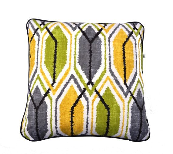 "Sketch - Lemon grass is a contempory  design suitable for almost any space cut  to fit 50 x 50 (20"" x 20"") or 45 x45 cm ( 18 x 18"")"