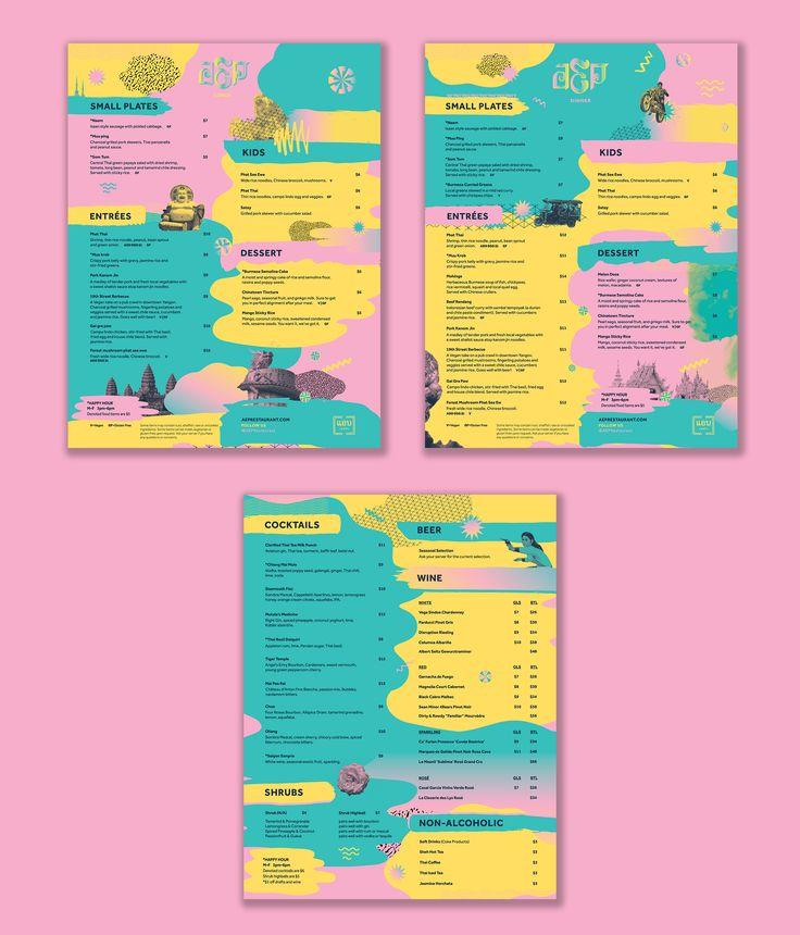 AEP Thai Restaurant Menu Designs by Special Edition Co.