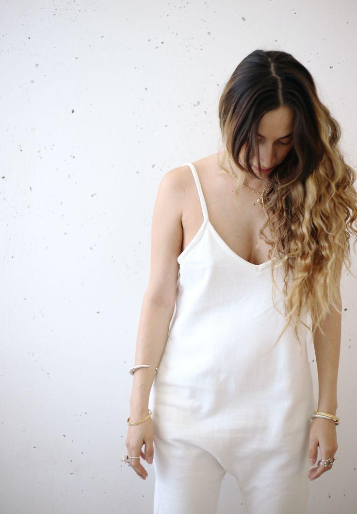 White Luminous Playsuit