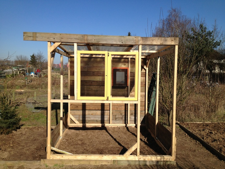 Diy greenhouse, work in progress. Got the windows in.