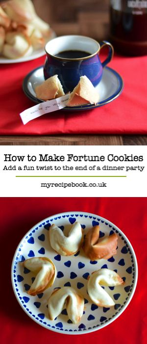 Add a fun twist to a dinner party or surprise someone with a special message with these homemade fortune cookies.