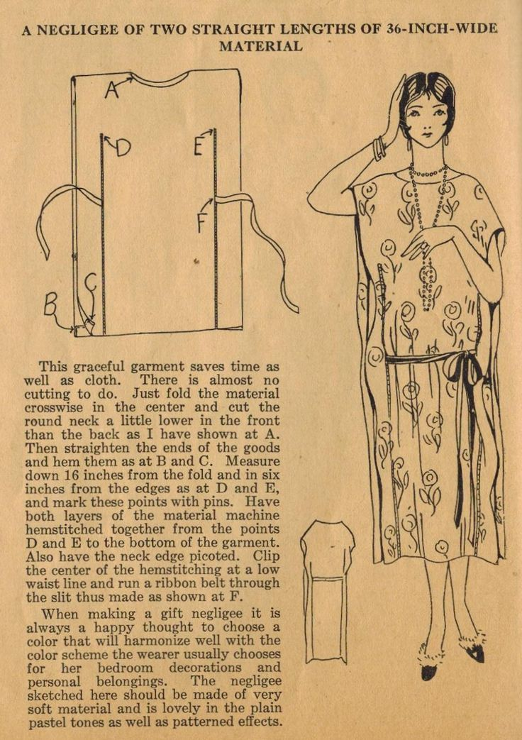 Home Sewing Tips from the 1920s - Sew a Graceful Flapper Negligee - The Midvale Cottage Post