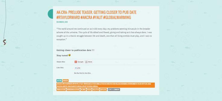 Ak-cra: Prelude teaser .......from my wordpress blog site  http://rtaylorward.wordpress.com/