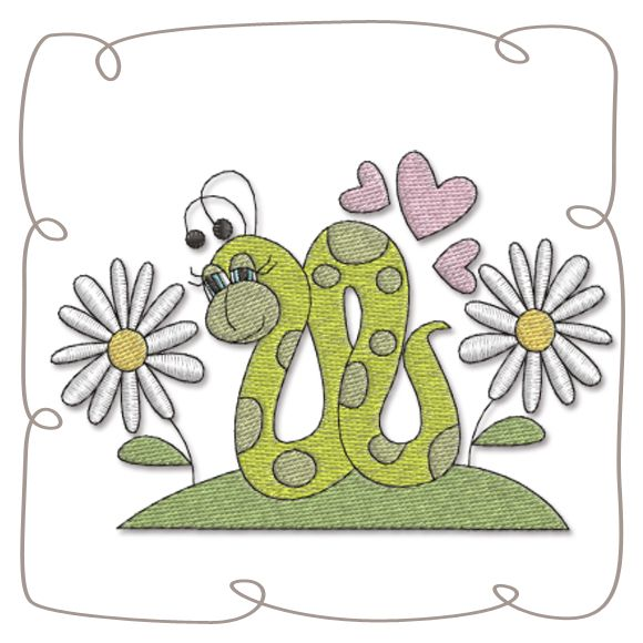 Caterpillar Machine Embroidery Design pattern-INSTANT DOWNLOAD