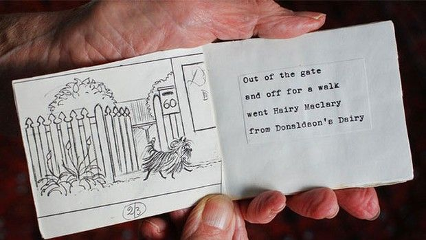 A small photocopied book Lynley Dodd gave to Ann Mallionson when she wrote the original Hairy Maclary from Donaldson's Dairy.