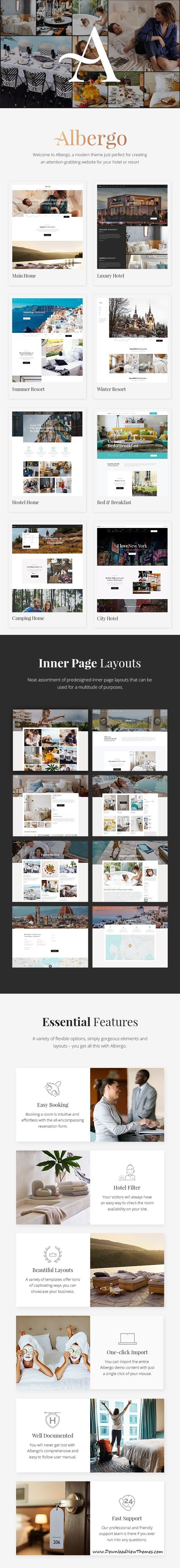 Albergo - A Modern Hotel and Accommodation Booking Theme | Template