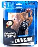 Tim Duncan Manufacturer: McFarlane Toys Series: NBA Basketball Sportspicks Series 24 Action Figures Release Date: February 2014 For ages: 4 and up UPC: 787926767254 Details (Description): NBA 24 infuses some new teams and players into the lineup, while bringing back a few McFarlane SportsPicks veterans.  This six-figure lineup includes new poses for LeBron James, Derrick Rose, and the return of Tim Duncan (last seen in NBA 6) and Paul Pierce (returning from NBA 13).  This lineup also ...
