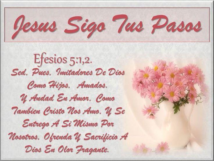 Jesús sigo tus pasos - † Imágenes con Frases de Bendiciones y Cristianas †