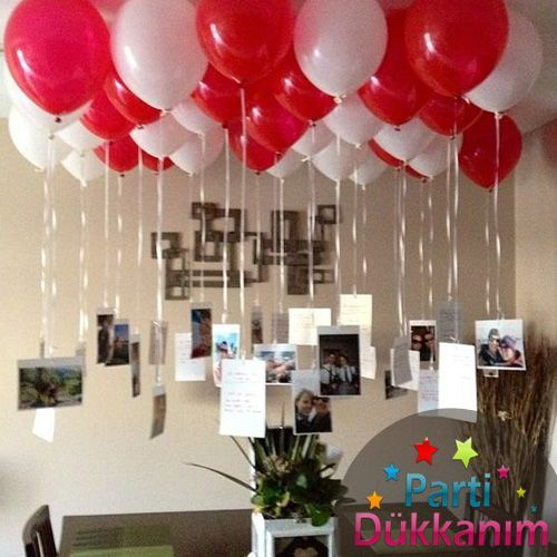 Red-White Flying Balloon Bundle 25 Pieces From Store - #Part #Ballon #Demeti #RedWhite # From Store