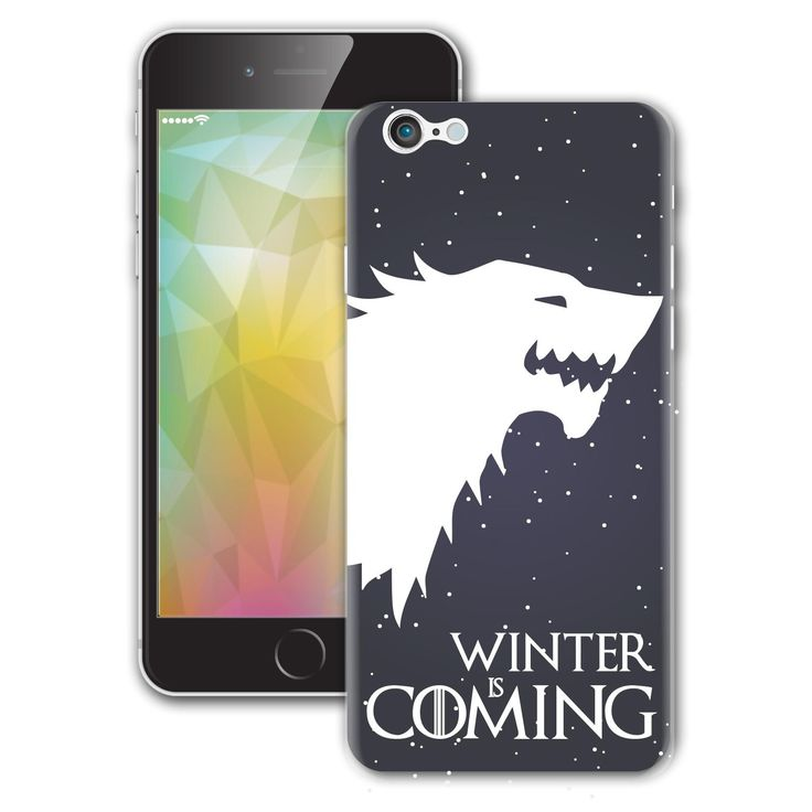 Winter Is Coming House Stark Game of Thrones Il Trono di Spade iPhone sticker Vinyl Decal