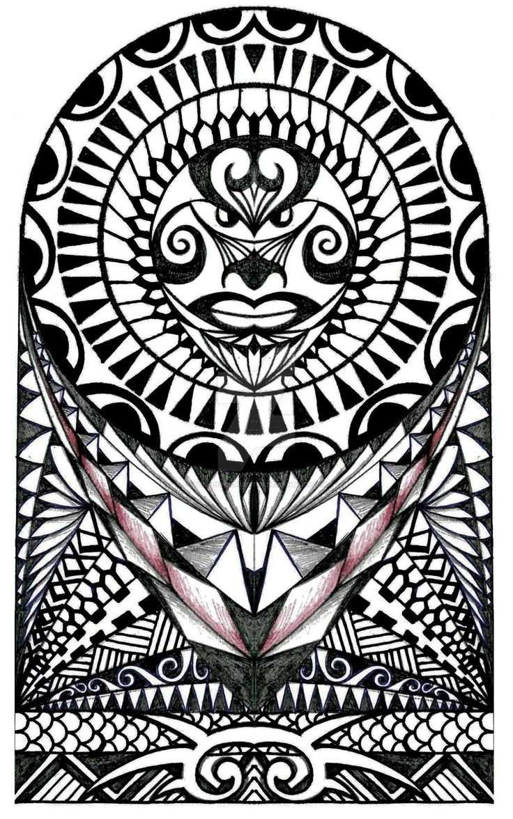 26 Best Maori Tattoo Design Drawing Sleeve Images On