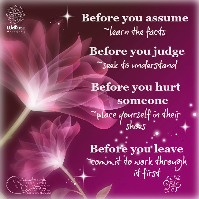 Before You...